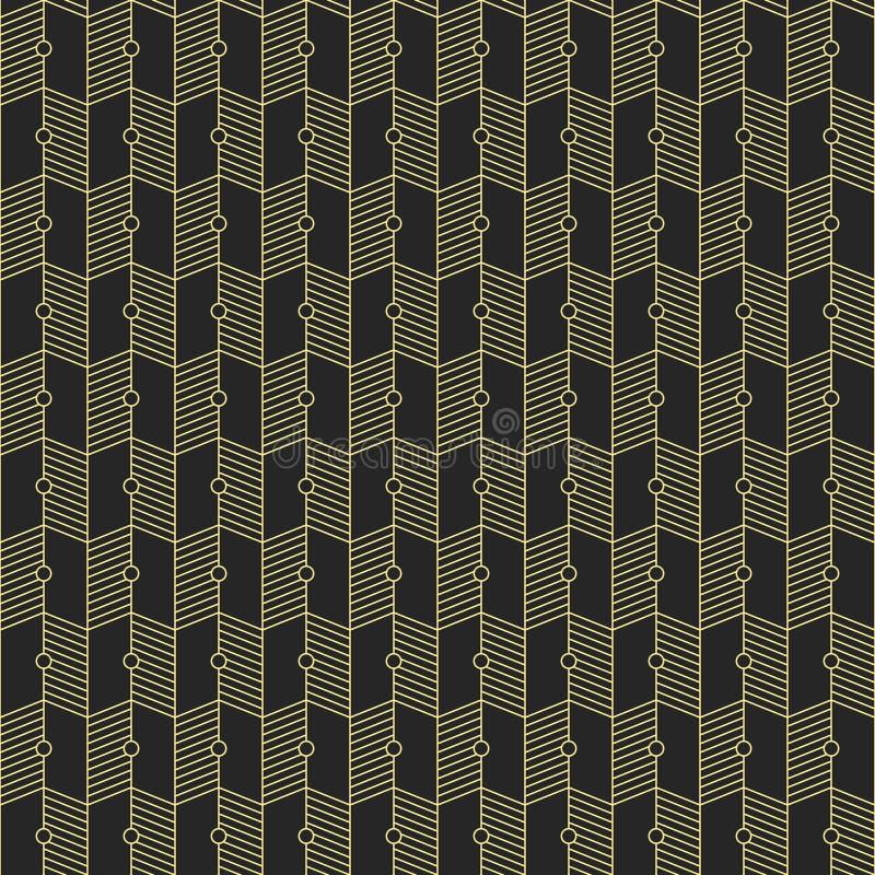Teste padrão sem emenda geométrico abstrato ilustração stock