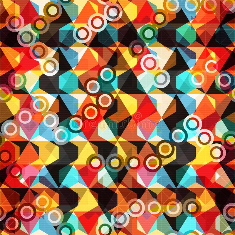 Teste padrão sem emenda geométrico abstrato brilhante no estilo dos grafittis ilustração do vetor da qualidade para seu projeto ilustração do vetor