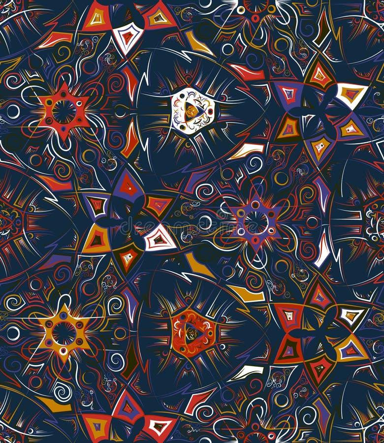 Teste padrão sem emenda geométrico abstrato com cópia animal Mão na moda texturas tiradas Projeto abstrato moderno para o cartaz ilustração royalty free