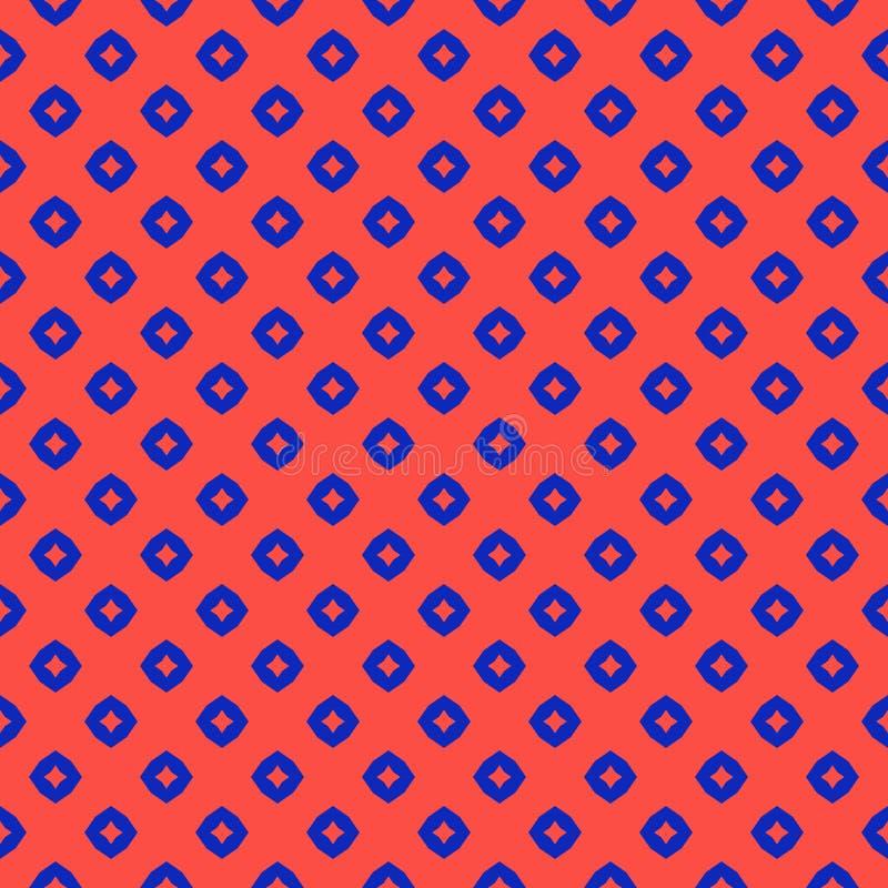 Teste padrão sem emenda geométrico abstrato do vetor Fundo vermelho e azul colorido brilhante ilustração do vetor