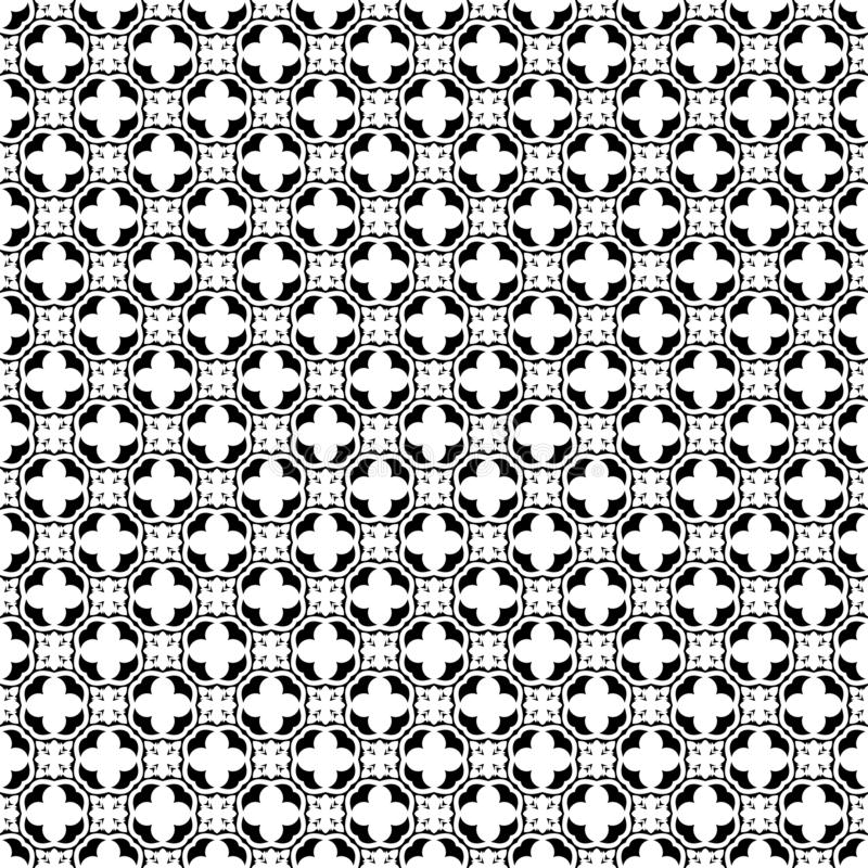 Teste padrão sem emenda geométrico abstrato em preto e branco, vetor Projeto, industrial ilustração royalty free