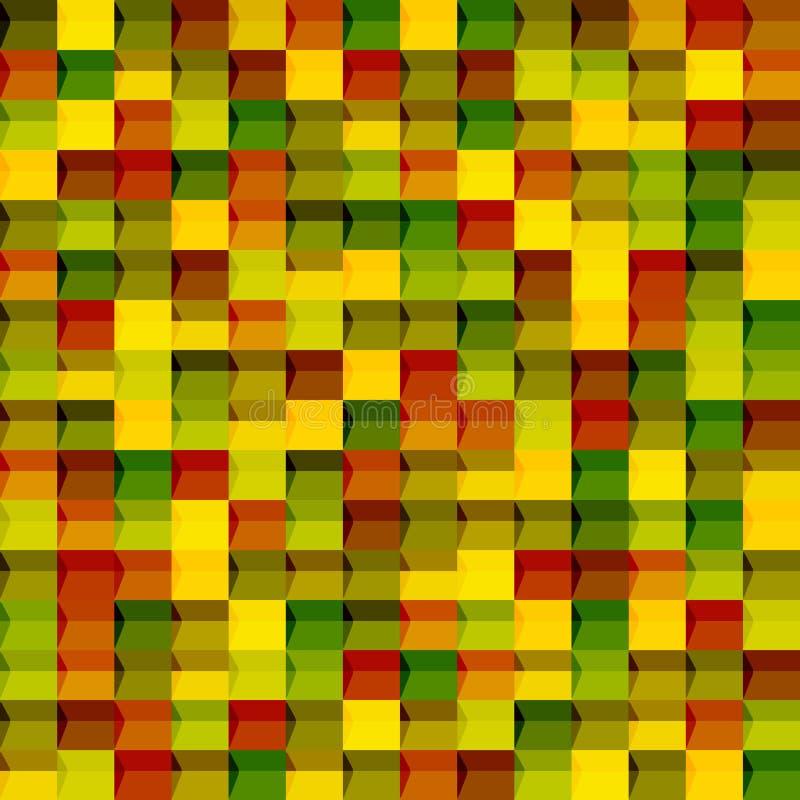 Teste padrão sem emenda geométrico abstrato Gráfico da forma Projeto do fundo Textura colorida à moda moderna Ilustração do vetor ilustração royalty free