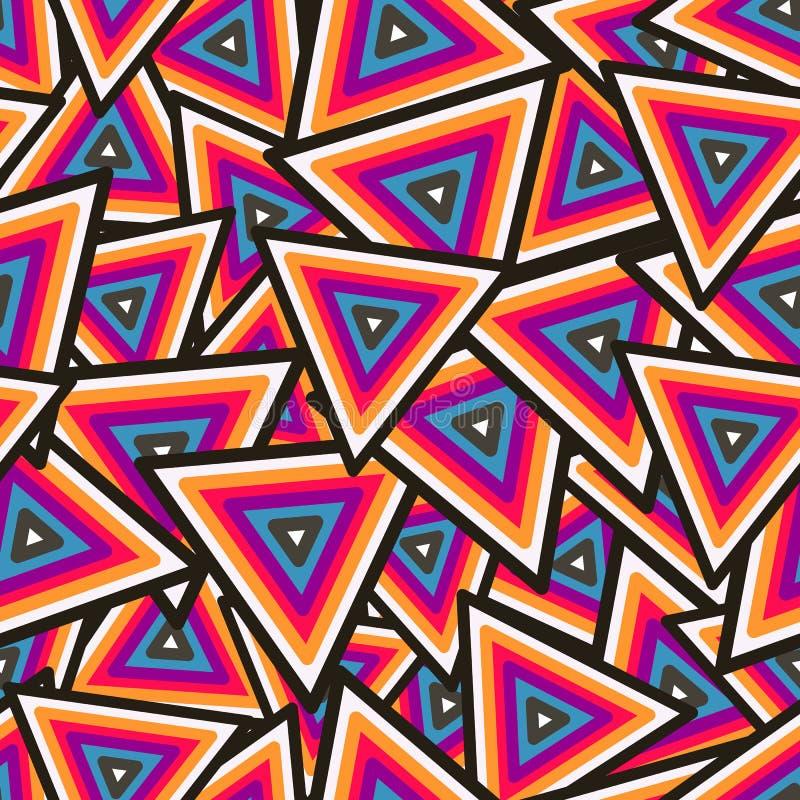 Teste padrão sem emenda geométrico abstrato. Vetor ilustração royalty free