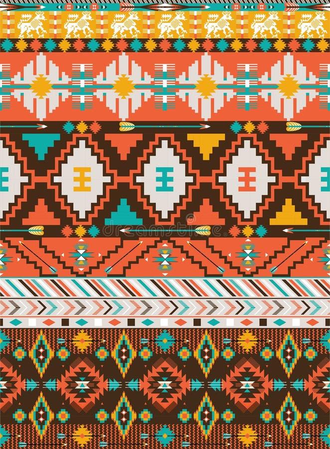 Teste padrão sem emenda geométrico asteca ilustração royalty free