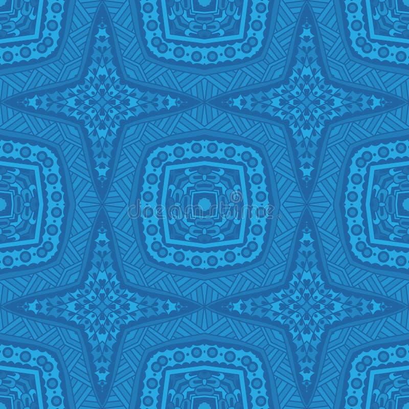 Teste padrão sem emenda geométrico azul ilustração stock