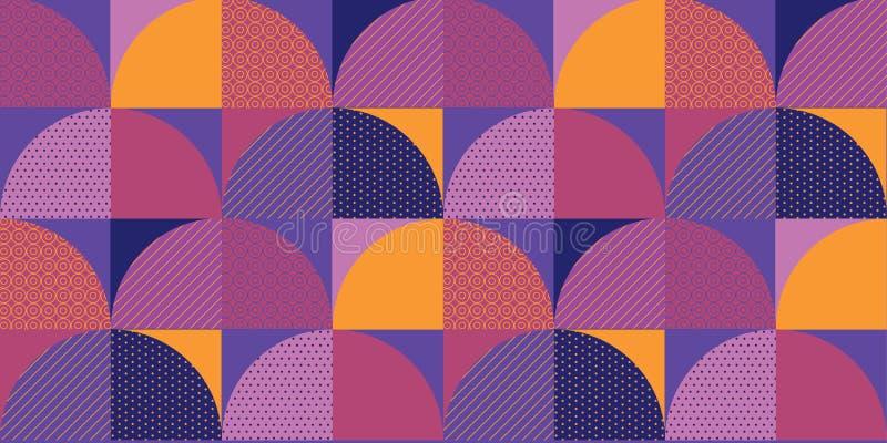 Teste padrão sem emenda geométrico colorido decorativo ilustração do vetor
