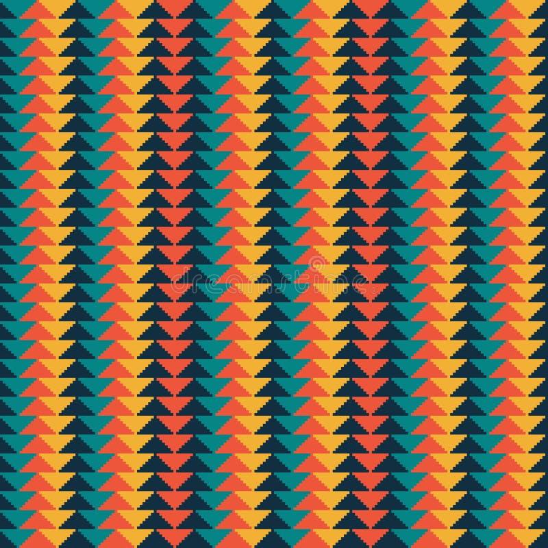 Teste padrão sem emenda geométrico com fundo do sumário da listra e do triângulo, fundo geométrico, teste padrão colorido das set ilustração royalty free