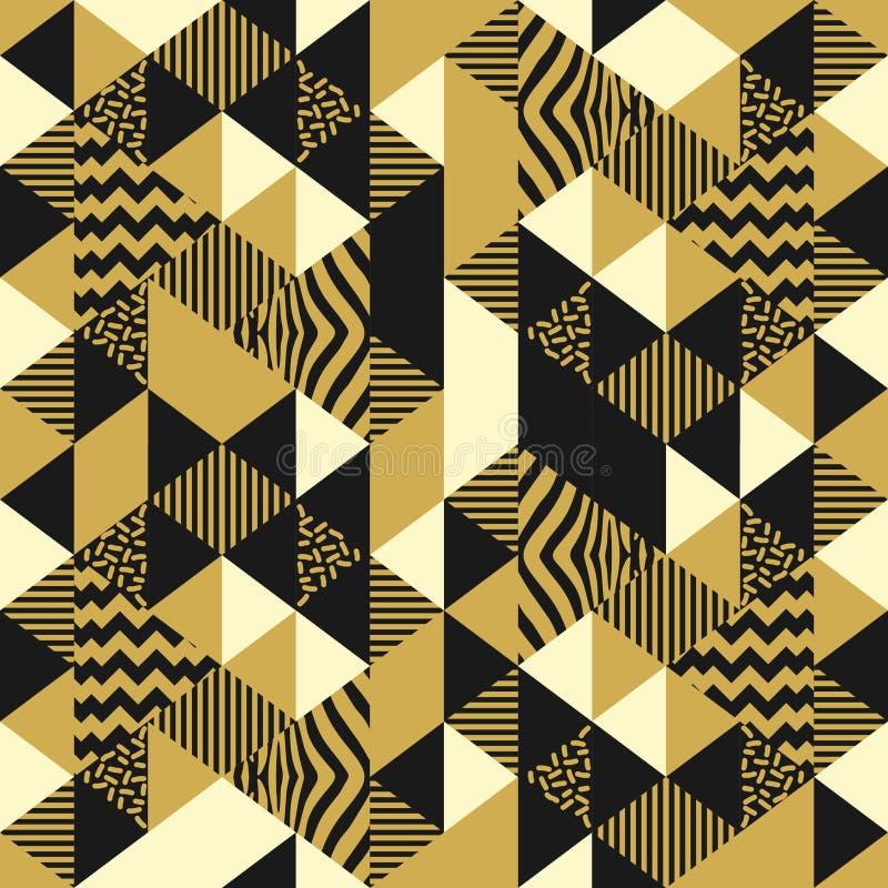 Teste padrão sem emenda geométrico com ilustração abstrata do vetor do triângulo Projeto luxuoso colorido na moda para a textura  ilustração royalty free