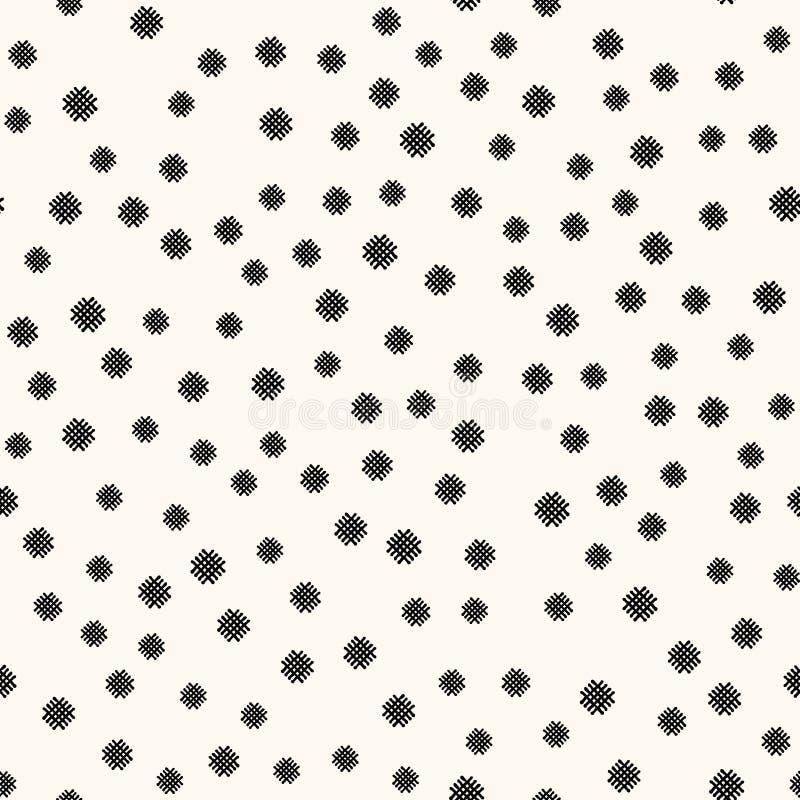 Teste padrão sem emenda geométrico com linhas cruzadas handdrawn abstratas Repetindo telhas do vetor, textura regular ilustração royalty free