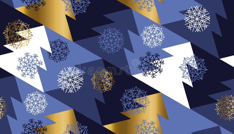 Teste padrão sem emenda geométrico da árvore de ano novo e de Natal ilustração stock