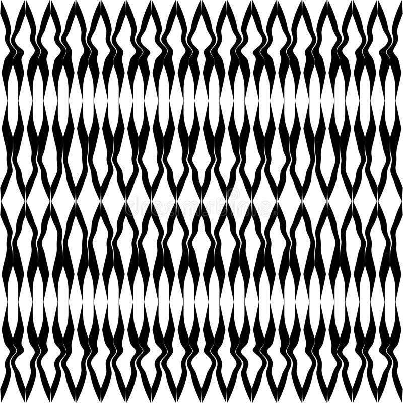 Teste padrão sem emenda geométrico da forma simples preto e branco, vetor fotos de stock