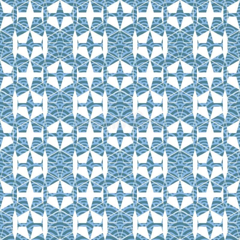 Teste padrão sem emenda geométrico da repetição Ilustração do vetor ilustração do vetor