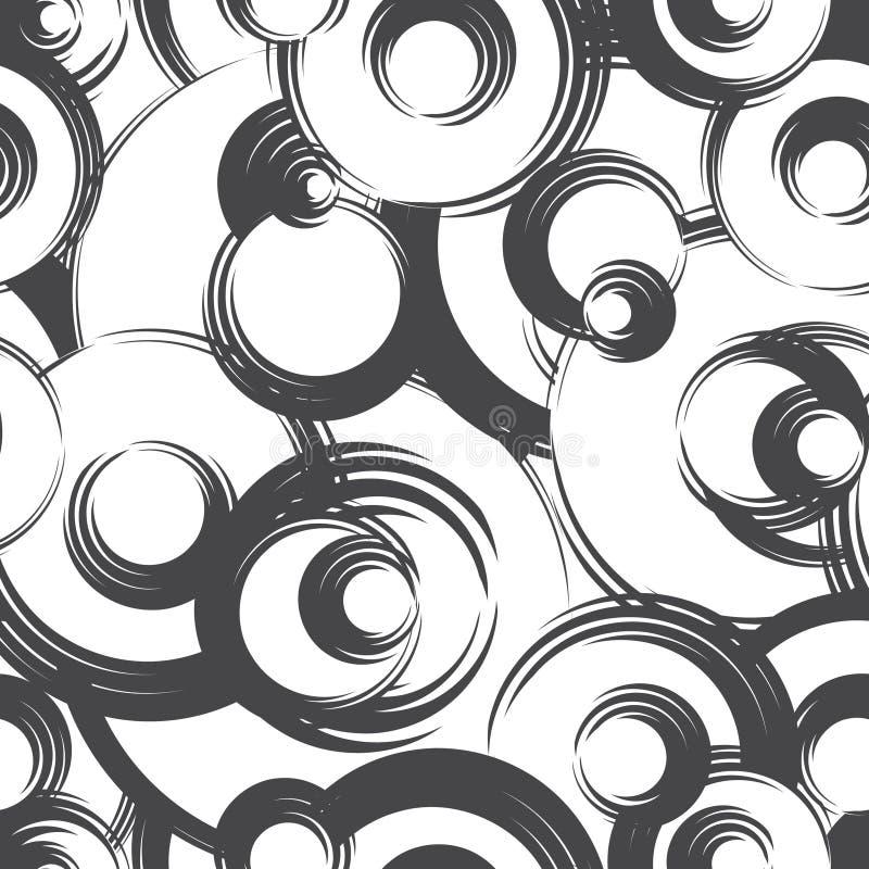 Teste padrão sem emenda geométrico do círculo abstrato Backgroun do ornamental da bolha ilustração stock