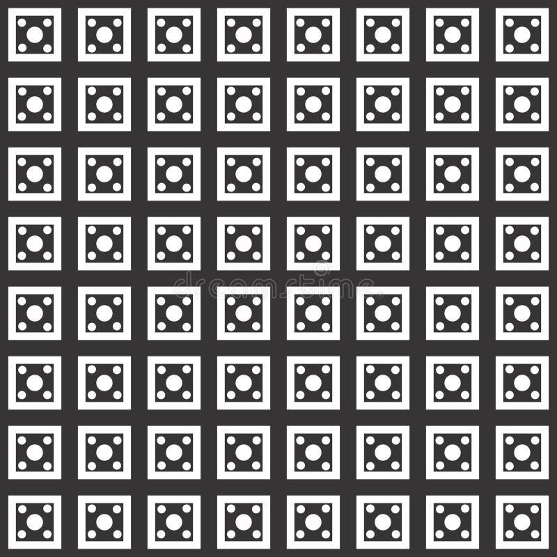 Teste padrão sem emenda geométrico do fundo preto no branco ilustração do vetor