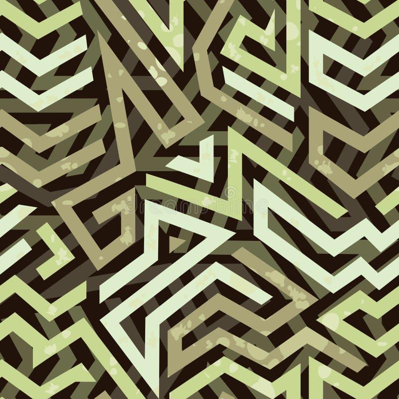Teste padrão sem emenda geométrico do grunge dos grafittis ilustração royalty free