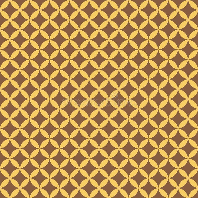 Teste padrão sem emenda geométrico do ouro abstrato para o scatter Vetor ilustração royalty free
