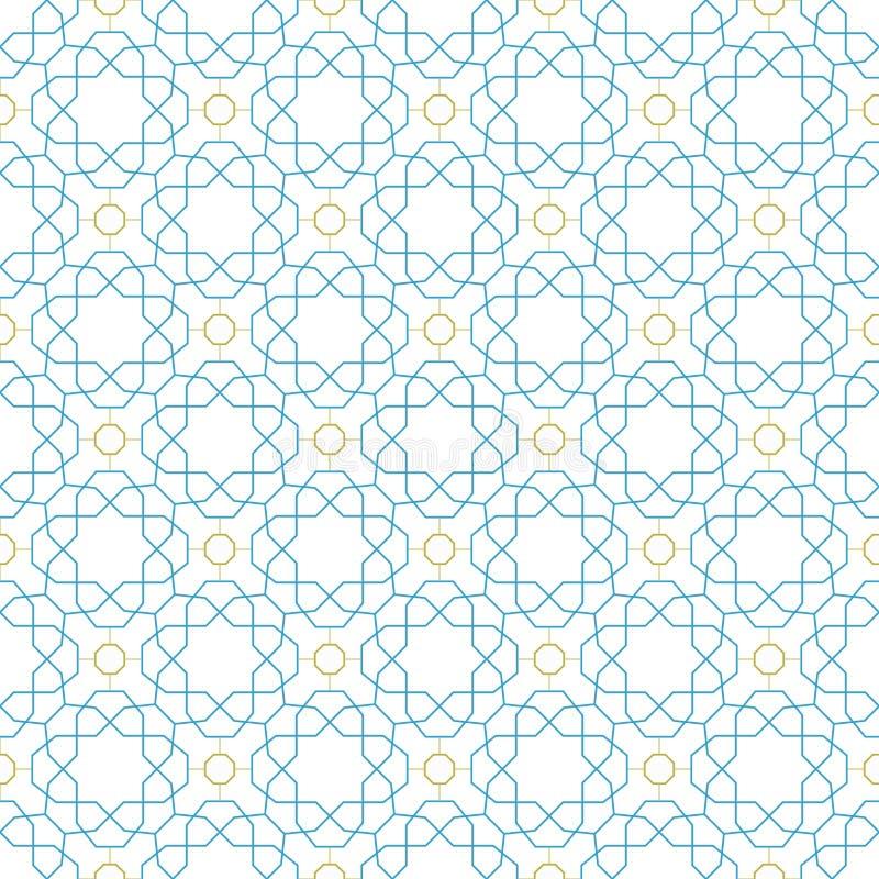 Teste padrão sem emenda geométrico do vetor ilustração stock