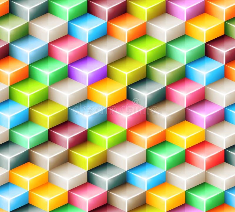 Teste padrão sem emenda geométrico do vetor com brilhante ilustração do vetor