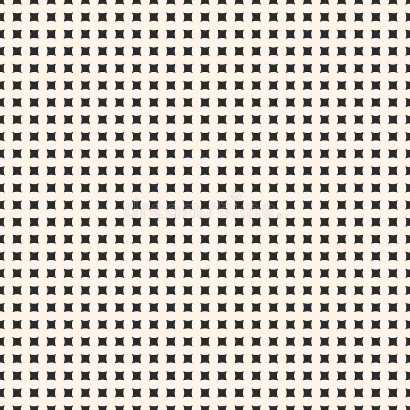 Teste padrão sem emenda geométrico do vetor simples com formas quadradas minúsculas ilustração do vetor