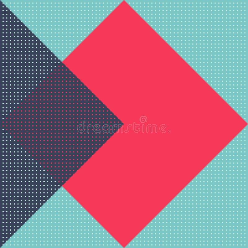Teste padrão sem emenda geométrico do vetor textura à moda moderna ilustração stock