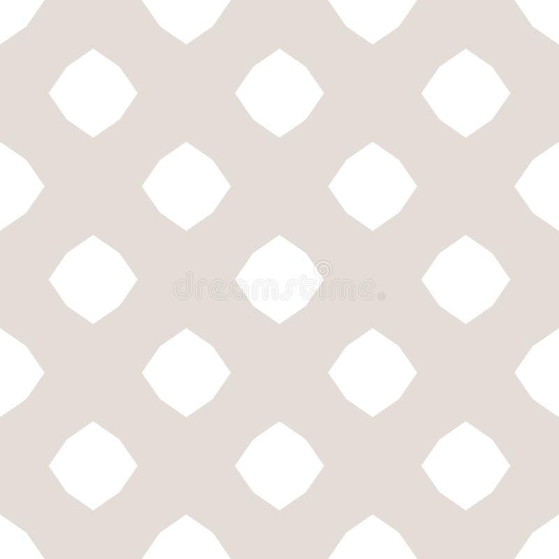 Teste padrão sem emenda geométrico minimalista do vetor sutil com formas octogonais grandes ilustração royalty free