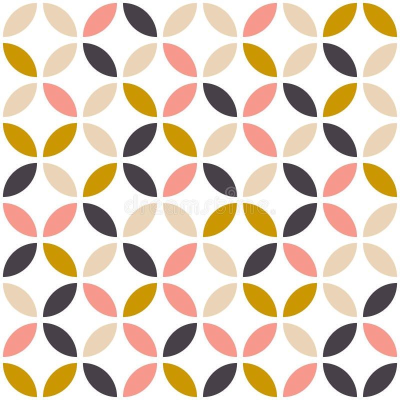 Teste padrão sem emenda geométrico no estilo escandinavo ilustração do vetor
