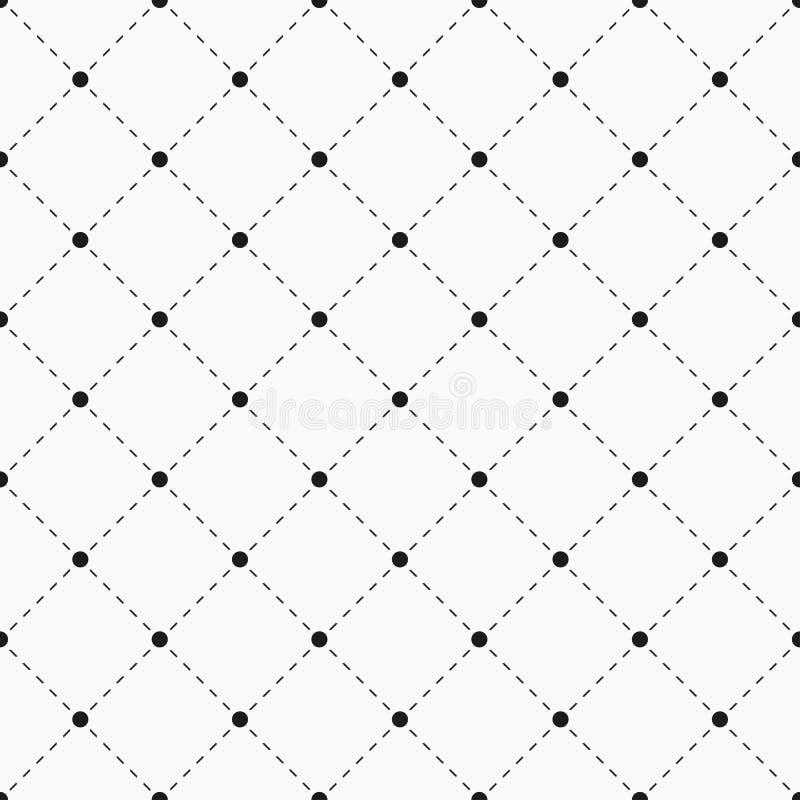 teste padrão sem emenda geométrico Pontos com linhas tracejadas ilustração stock