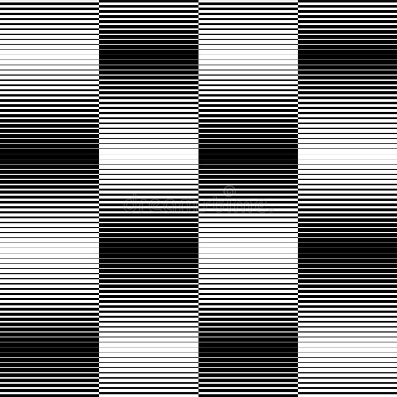 Teste padrão sem emenda geométrico preto e branco com linha, b abstrato ilustração do vetor