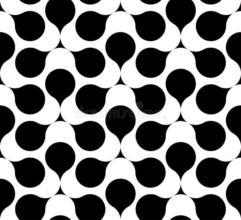 Teste padrão sem emenda geométrico preto e branco, fundo abstrato ilustração do vetor