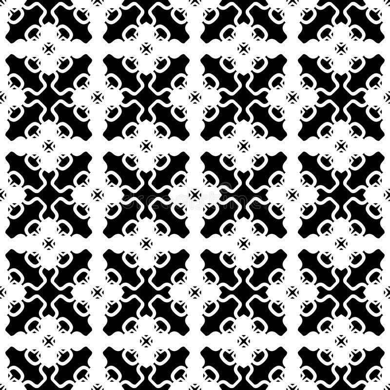 Teste padrão sem emenda geométrico preto e branco, vetor do sumário Projeto ilustração do vetor
