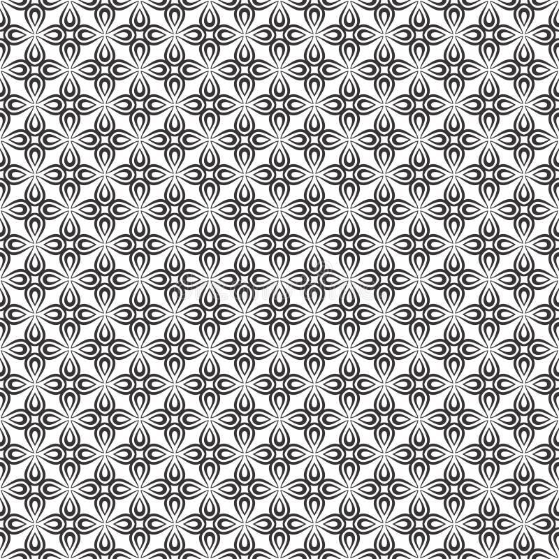 Teste padrão sem emenda GEOMÉTRICO preto no fundo branco ilustração do vetor