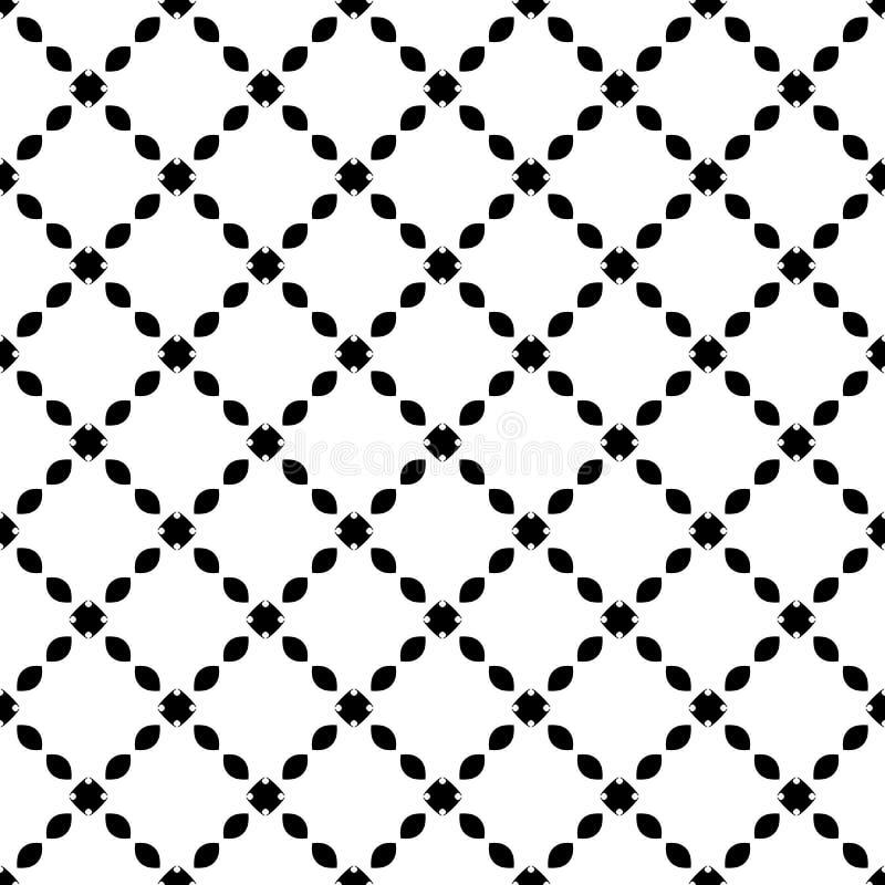 Teste padrão sem emenda GEOMÉTRICO preto no fundo branco ilustração stock