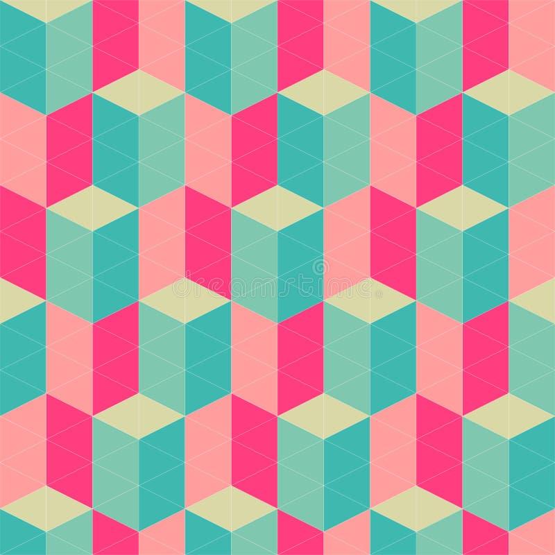 Teste padrão sem emenda geométrico retro abstrato ilustração do vetor