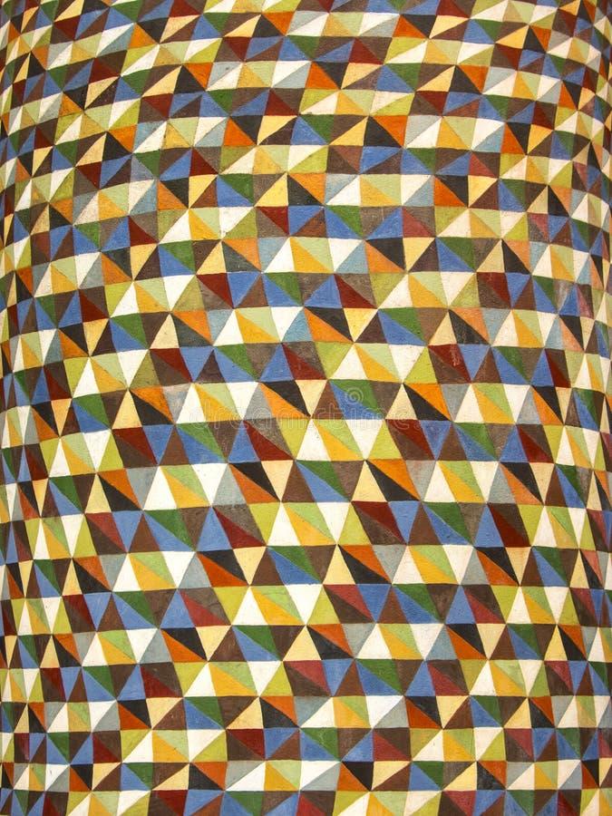 Teste padrão sem emenda geométrico retro abstrato Fundo colorido abstrato, textura, papel de parede ilustração do vetor
