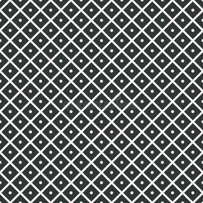 teste padrão sem emenda geométrico rombos com pontos para dentro Vetor ilustração royalty free