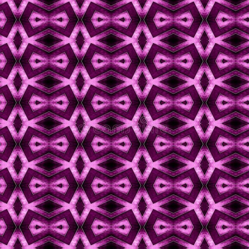 Teste padrão sem emenda geométrico roxo abstrato ilustração do vetor