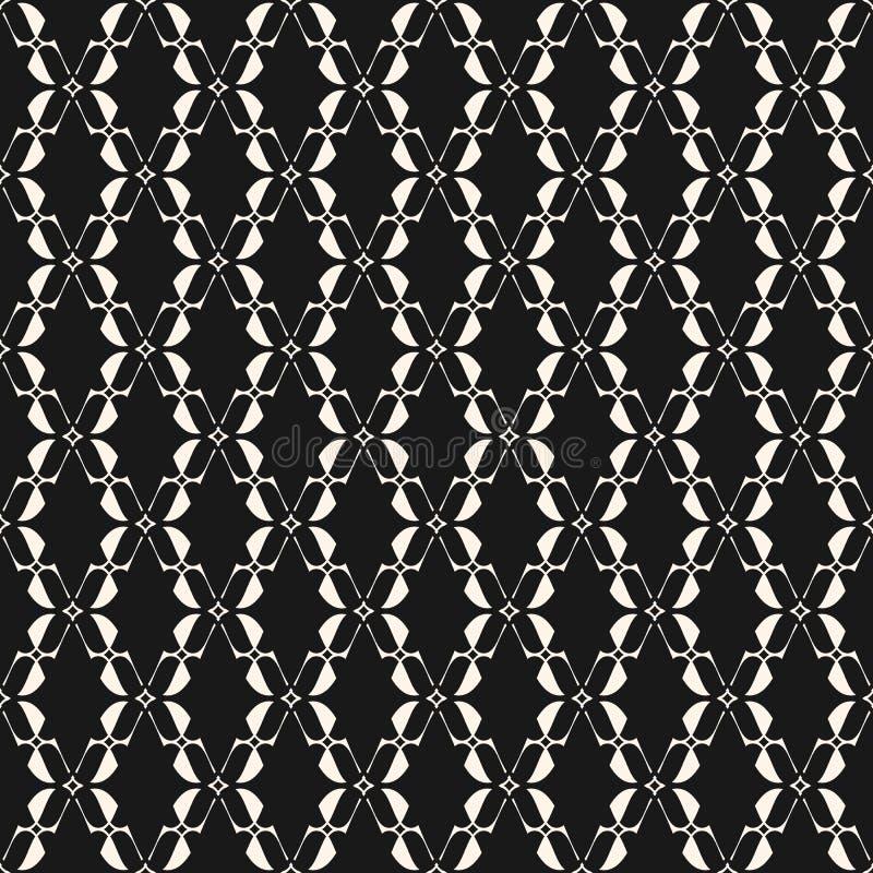 teste padrão sem emenda geométrico Textura elegante do laço Motivo tradicional ilustração royalty free