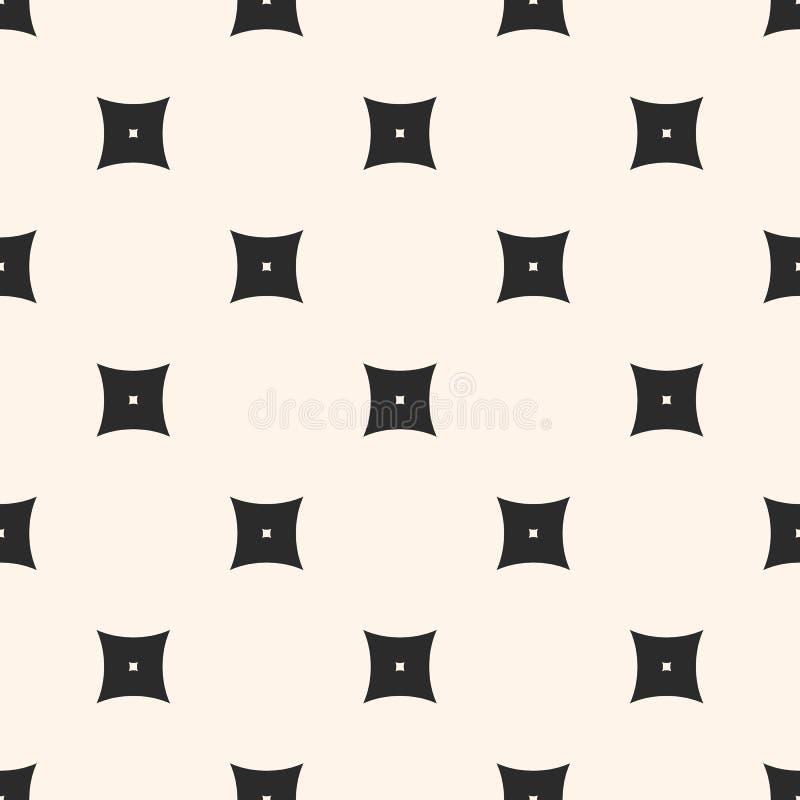 Teste padrão sem emenda geométrico, textura simples do vetor com quadrados ilustração stock