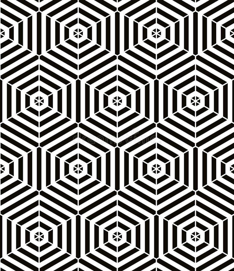 Teste padrão sem emenda geométrico vermelho e preto do vintage, abstrac do vetor ilustração do vetor