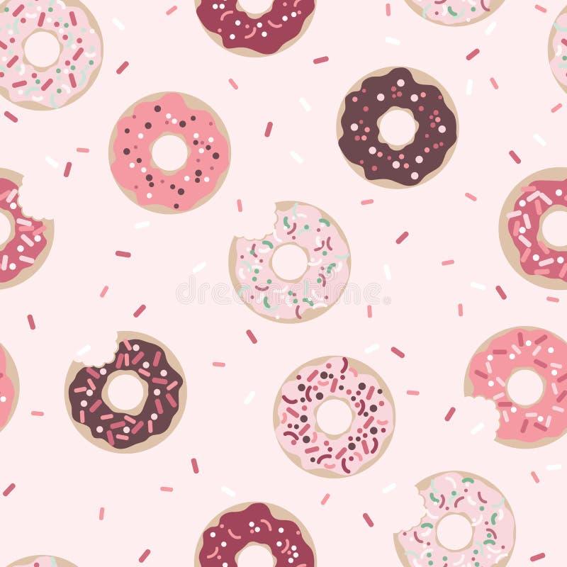 Teste padrão sem emenda gráfico dos anéis de espuma no fundo cor-de-rosa ilustração royalty free