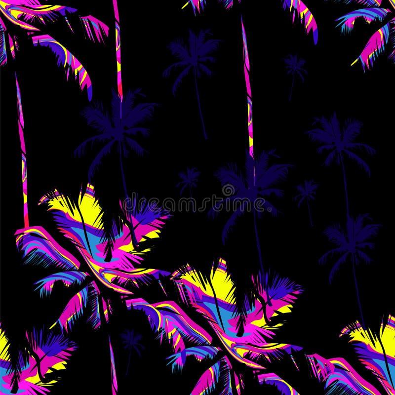 Teste padrão sem emenda havaiano ilustração do vetor