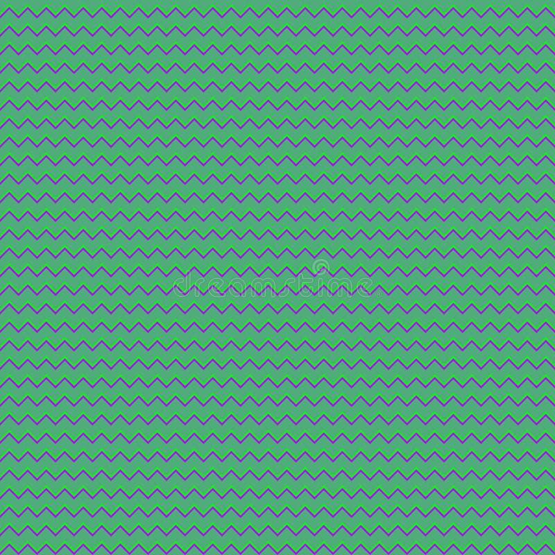 Teste padrão sem emenda ilustrado, papel de parede verde e lilás geométrico ilustração royalty free