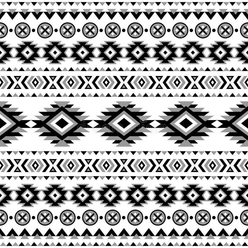 Teste padrão sem emenda listrado étnico ilustração royalty free