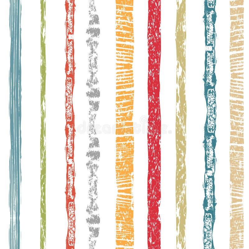 Teste padrão sem emenda listrado Listras Textured Fundo de repetição abstrato colorido Projeto creativo ilustração do vetor
