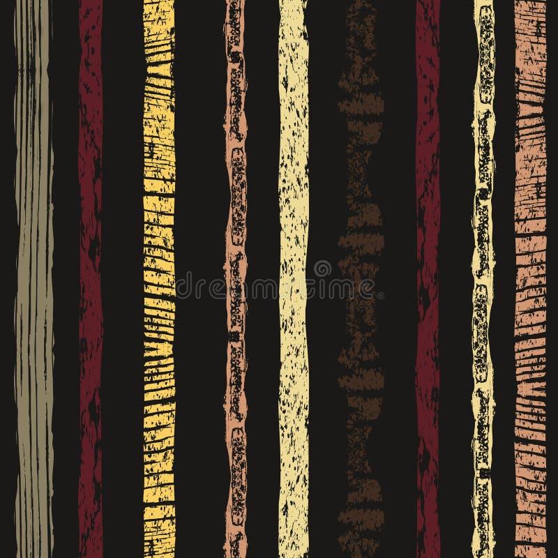 Teste padrão sem emenda listrado Listras Textured Fundo de repetição colorido Projeto creativo ilustração stock