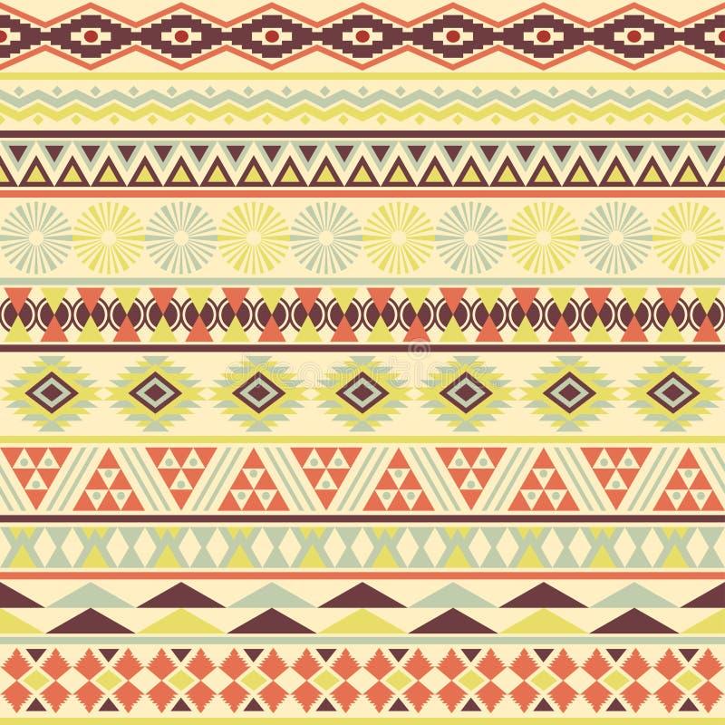 Teste padrão sem emenda listrado tribal. ilustração do vetor