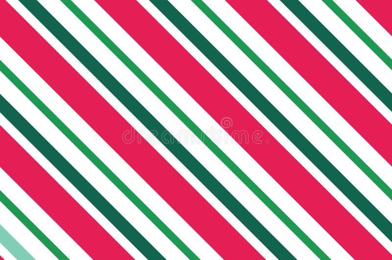 Teste padrão sem emenda listras Cor-de-rosa-vermelhas no fundo branco O fundo diagonal listrado do teste padrão com linhas inclin ilustração stock