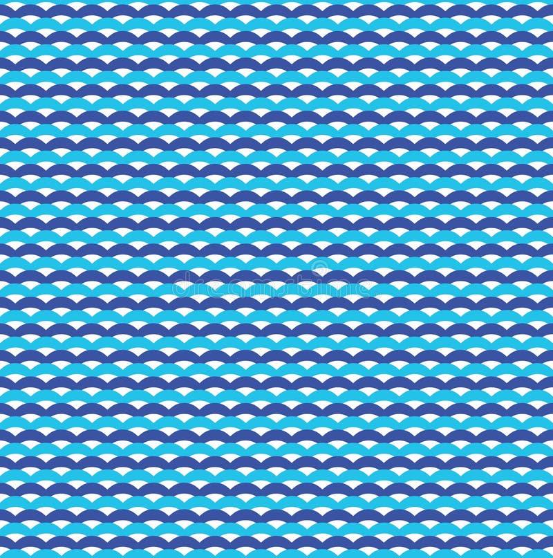 Teste padrão sem emenda marinho azul das ondas de oceano ilustração royalty free