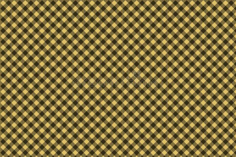 Teste padrão sem emenda - marrom - da manta preta leve do lenhador ilustração do vetor