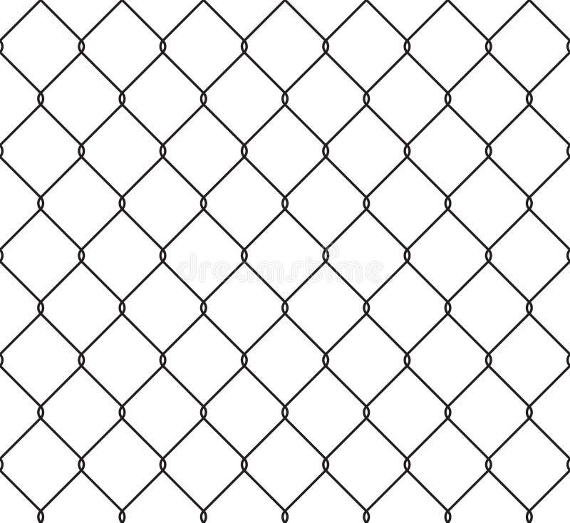 Teste padrão sem emenda metálico da cerca prendida ilustração do vetor